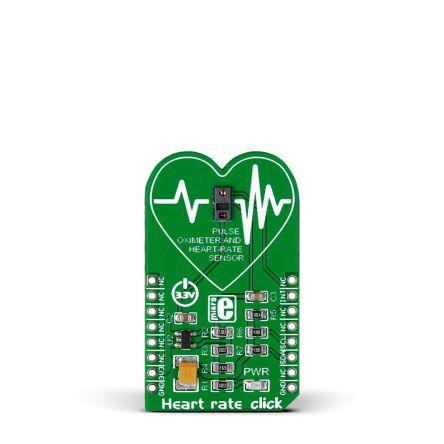 MikroElektronika MIKROE-2000, Heart Rate Click Heart Rate Sensor mikroBus Click Board for MAX30100