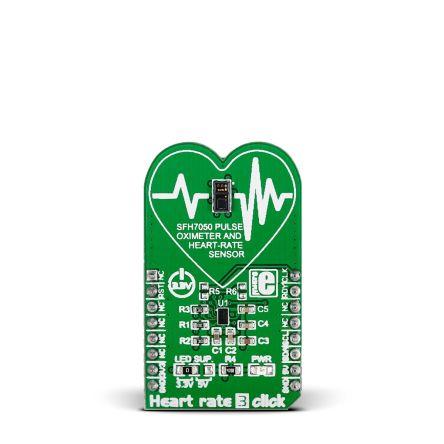 MikroElektronika MIKROE-2036, Heart Rate 3 Click Heart Rate Sensor mikroBus Click Board for SFH7050