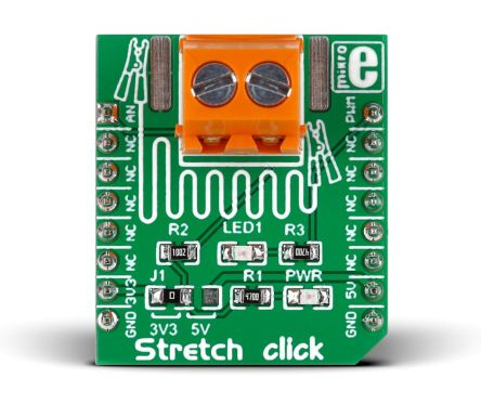 MikroElektronika Stretch Click mikroBus Click Board for Stretch Force  Measurement