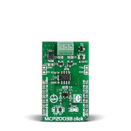 MikroElektronika, MCP2003B click UART Transceiver (Dual) Development Board for MCP2003B for mikroBUS, MIKROE-2227