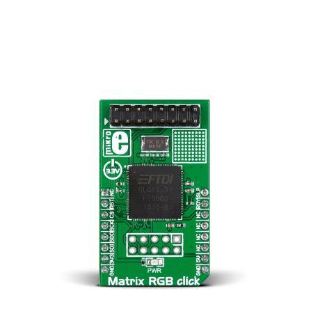 MikroElektronika, Matrix RGB click SPI Development Board for FT900 for mikroBUS, MIKROE-2239