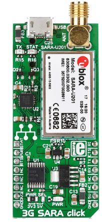 MikroElektronika 3G SARA Click Mobile Communication (Cellular) mikroBus  Click Board for MAX9860 - MIKROE-2244