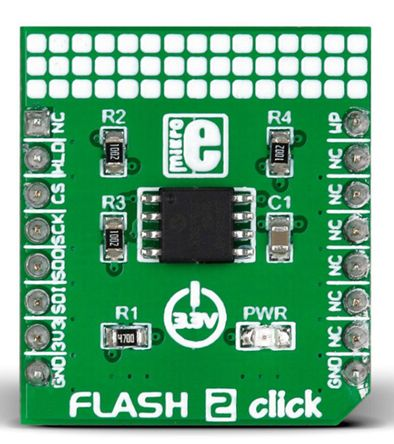 MikroElektronika MIKROE-2267, Flash 2 click Serial Flash Development Board for SST26VF064B for MikroBUS