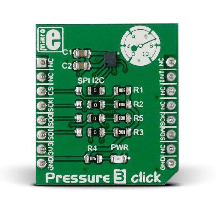 MikroElektronika MIKROE-2293, Pressure 3 Click Barometric Pressure Sensor mikroBus Click Board for DPS310