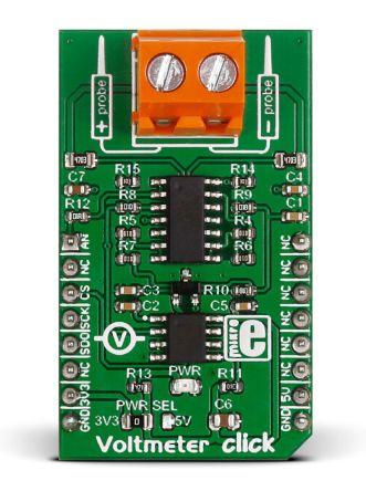 MikroElektronika MIKROE-2436 Voltmeter Click Voltage Measurement for MCP3201 Module for mikroBUS