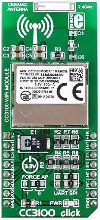 MikroElektronika MIKROE-2458, ECG Click Bundle Heart Rate Sensor mikroBus Click Board