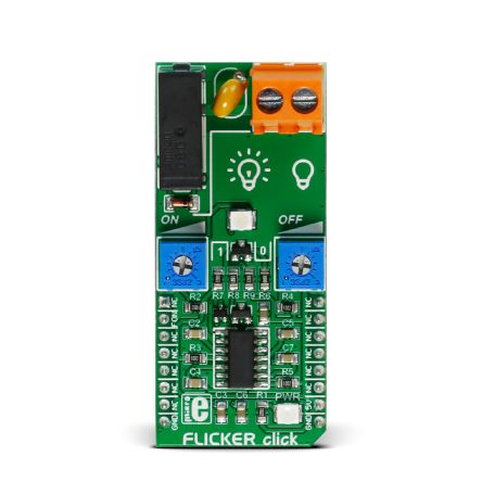 MikroElektronika MIKROE-2481 FLICKER Click for NA556 for Alarm System Lights, LED Commercials, Signaling Lights