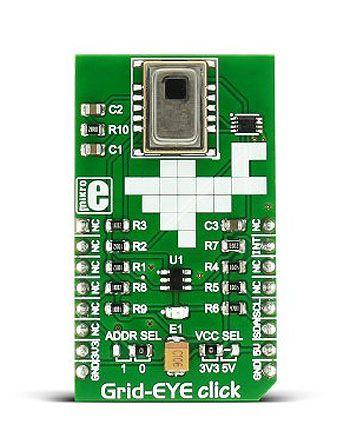 MikroElektronika MIKROE-2539, Grid-EYE Click Infrared (IR) Sensor mikroBus Click Board for AMG8853