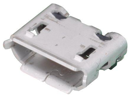 Hirose B 2.0 Micro USB Connector Receptacle, Straight