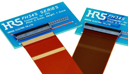 Hirose FH34SRJ 0.5mm Pitch 20 Way Straight SMT Female FPC Connector, ZIF Top and Bottom Contact