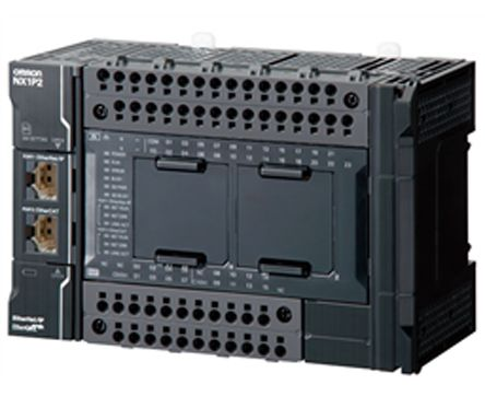 Omron NX PLC CPU, EtherCAT, EtherNet/IP Networking Computer Interface, 1 5  MB Program Capacity, 24 Inputs, 16 Outputs,