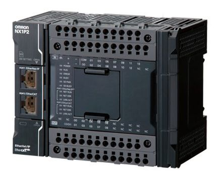 Omron NX PLC CPU, EtherCAT, EtherNet/IP Networking Computer Interface, 1 5  MB Program Capacity, 14 Inputs, 16 Outputs,