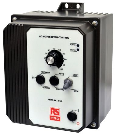RS PRO Inverter Drive, 1-Phase In, 50 → 60Hz Out 1.5 kW, 230 V ac with EMC Filter, 6.7 A RSAC, IP65