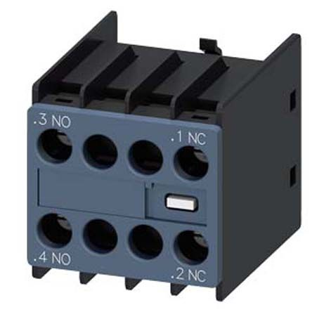 Snap-On Auxiliary Switch Block with Screw Terminal, 2NO/2NC, 10 A, 600 V dc, 690 V ac