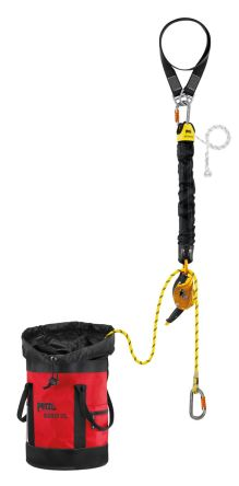 Rescue Kit Petzl K90060 Containing Bucket Bag & an AXIS 11 mm Rope with 2 Sewn Terminations, Connection Fixes 1500 mm