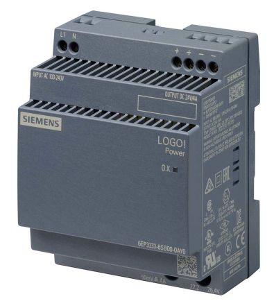 Power Supply, AC-DC, 24V, 4A, 100-240V In, Din Rail Mount, LOGO! 4th Gen