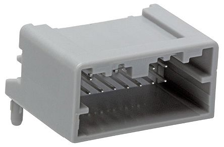 Molex Mini50 Series, 34826 Series Number, 2 Row 16 Way Through Hole Plug PCB Header, with Solder Termination Method