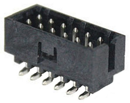 Molex MILLI-GRID 151118, 2mm Pitch, 4 Way, 2 Row Shrouded, Vertical PCB Header, Surface Mount