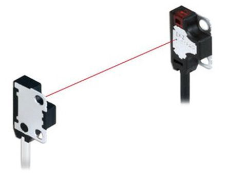 Panasonic Through Beam (Emitter and Receiver) Photoelectric Sensor 50 mm Detection Range PNP IP67 Block Style EX-Z11B-P
