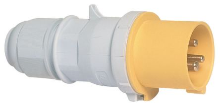 Bals IP44 Red Cable Mount 2P+E Industrial Power Plug, Rated At 16A, 110 V