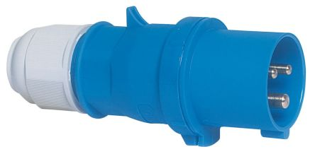 Bals IP44 Blue Cable Mount 2P+E Industrial Power Plug, Rated At 16A, 230 V