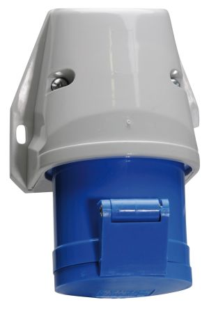 Bals IP44 Blue Wall Mount 2P+E Industrial Power Socket, Rated At 16A, 230 V