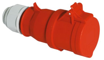 Bals IP44 Red Cable Mount 3P+N+E Industrial Power, Rated At 16A, 400 V