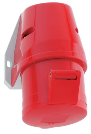 Bals IP44 Red Wall Mount 3P+N+E Industrial Power Socket, Rated At 16A, 400 V