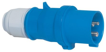 Bals IP44 Blue Cable Mount 2P+E Industrial Power Plug, Rated At 32A, 230 V