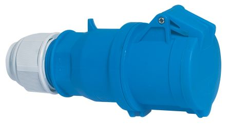 Bals IP44 Blue Cable Mount 2P+E Industrial Power, Rated At 32A, 230 V