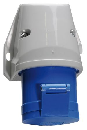 Bals IP44 Blue Wall Mount 2P+E Industrial Power Socket, Rated At 32A, 230 V