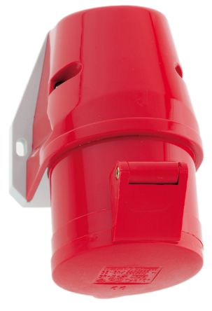 Bals IP44 Red Wall Mount 3P+N+E Industrial Power Socket, Rated At 32A, 400 V
