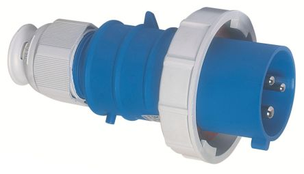 Bals IP67 Blue Cable Mount 2P+E Industrial Power Plug, Rated At 16A, 230 V