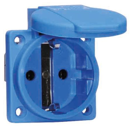 Bals IP54 Blue Panel Mount 2P+E Industrial Power, Rated At 16A, 250 V
