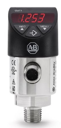 Allen Bradley Gauge Pressure Sensor, IO-Link, 1bar Max Pressure Reading , 15 → 35 V dc, NPT 1/4, IP65, IP67