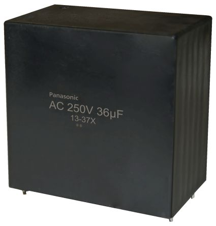 Panasonic 36μF Polypropylene Capacitor PP 250V ac ±10% Tolerance Through Hole EZPQ Series