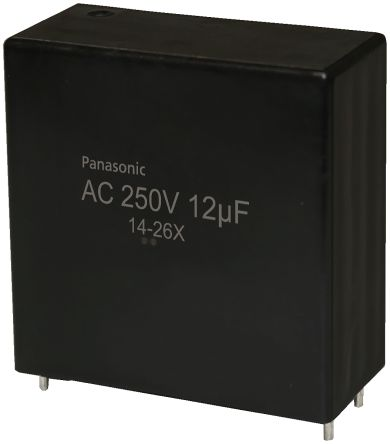 Panasonic 12μF Polypropylene Capacitor PP 250V ac ±10% Tolerance Through Hole EZPQ Series