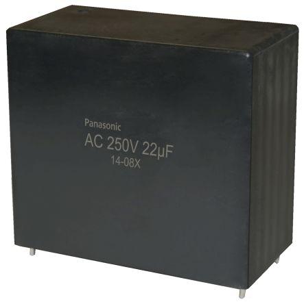 Panasonic 22μF Polypropylene Capacitor PP 250V ac ±10% Tolerance Through Hole EZPQ Series