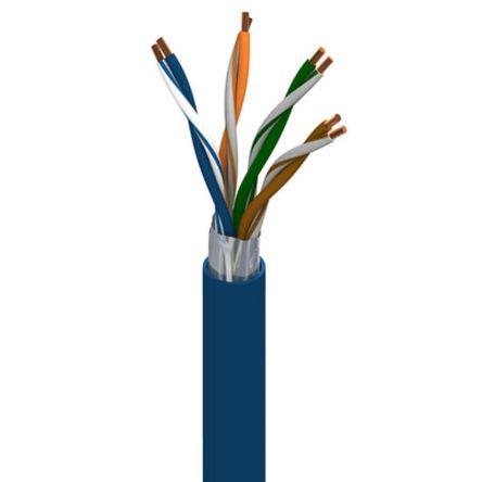 Belden Black PVC Cat5e Cable Braid, 1000ft Unterminated