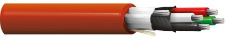 Belden 4 Conductor Foil Industrial Cable 0.35 mm² Red 30m Reel