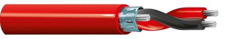 Belden Red 88760 Installation Cable, Aluminium Foil-PET Tape, Tinned Copper Braid 3.63mm OD 18 AWG 300 V ac 152m
