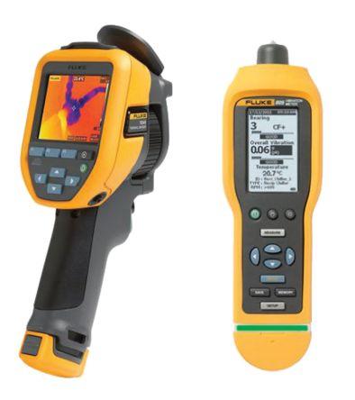 Fluke TIS45 9HZ Thermal Imager and Vibration Meter Bundle, Temp Range: -20 → +350 °C, -4 → +662 °F
