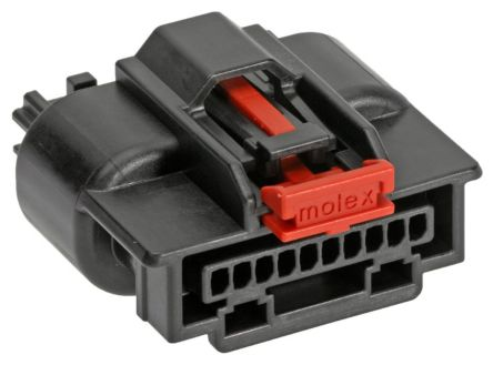 Molex Mini50 Sealed Series, 34967 Series Number, 1 Row 10 Way Cable Mount Socket Crimp Housing, with Crimp Termination