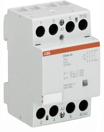 ESB 4 Pole Contactor, 4NO, 40 A, 22 kW, 24 V @ 50 Hz, 28 V @ 60 Hz Coil, Screw Terminal