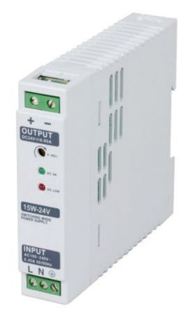 AC-DC Switching Power Supply DIN Rail Power Supply, 15W, 12V dc/ 1.2A