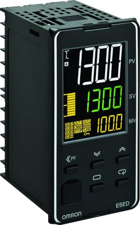 Omron E5ED Panel Mount PID Temperature Controller, 48 x 96mm 2 Input, 2 Output Relay, Voltage, 24 V ac/dc Supply Voltage
