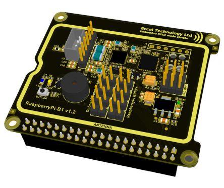 Eccel Technology Ltd Hat RFID/NFC Raspberry Pi HAT for Raspberry Pi 3 Model B for use with BCM2837 Broadcom Processor
