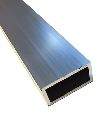 T6 Rectangular Aluminium Tube, 1m x 50mm x 20mm, 2mm product photo