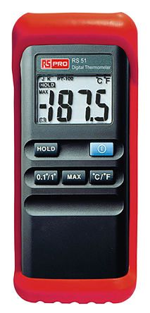 RS PRO Digital Thermometer, 1 Input Handheld, K Type Input With SYS Calibration