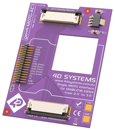 4D Systems MOTG AC1 Interface Board with 1 MOTG Slot for gen4 LCD Displays